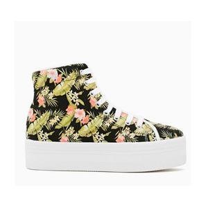 Jeffrey Campbell Black Floral Tropics Sneaker